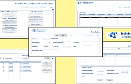 Production and Quality Record System - Access Application