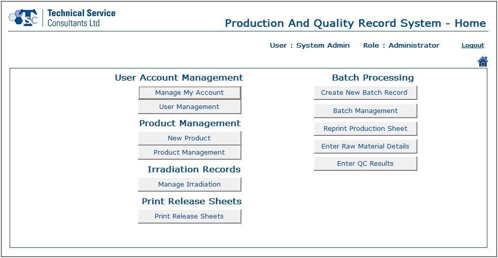 Portfolio - Production and Quality Recording Systems